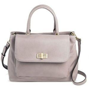 Merona Zinc Gray Optional Crossbody Satchel Bag